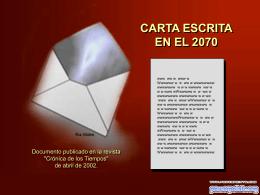 Carta escrita en el 2070 - Instituto Nueva Galicia Secundaria