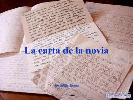 La carta de la novia