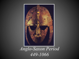 Anglo-Saxon Period