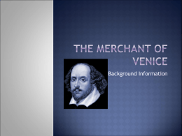 The Merchant of Venice - Wappingers Central School
