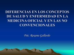 DIFERENCIAS EN LOS CONCEPTOS DE SALUD Y …