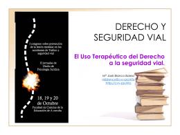 DERECHO Y SEGURIDAD VIAL