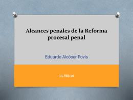 Reforma procesal penal y seguridad ciudadana
