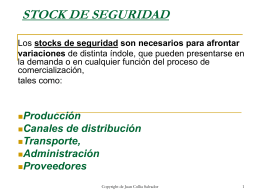 STOCK DE SEGURIDAD