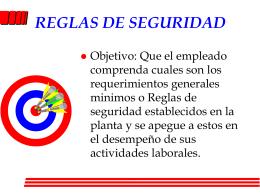 REGLAS DE SEGURIDAD - Apuntes, Tareas, Monografias