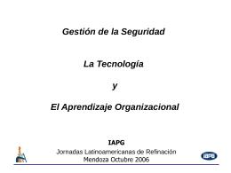Seguridad y aprendizaje organizacional