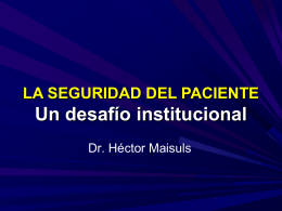 'ROL DE LAS INSTITUCIONES EN LA SEGURIDAD DEL …