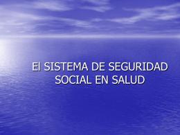 LA SEGURIDAD SOCIAL EN LAS COOPERATIVAS DE …