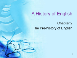 A History of English - uni