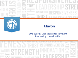 Elavon Corporate Overview -