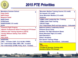 PTE Information Slides - United States Naval Academy