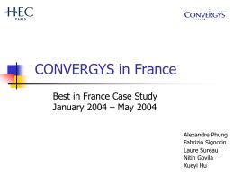 Convergys - HEC Paris