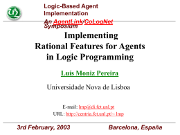 Implementing Rational Features for Agents in Logic …