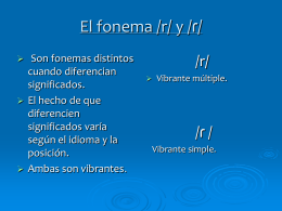 El fonema /r/ - sonidosyfonemas