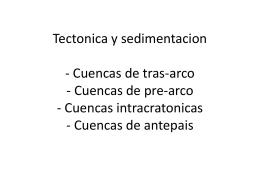 Tectonica y sedimentacion - Cuencas de tras-arco