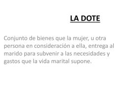 Tema 42. LA DOTE