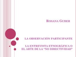 Rosana Guber - dameantropologia