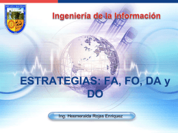ESTRATEGIAS: FA, FO, DA y DO