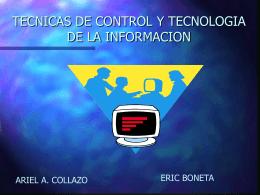 TECNICAS DE CONTROL Y TECNOLOGIA DE LA …