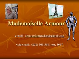 Mademoiselle Armour