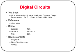 Chapter # 1: digital circuits