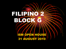 FILIPINO 2 BLOCK A
