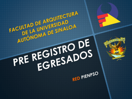 PRE REGISTRO DE EGRESADOS