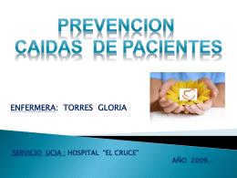 PREVENCION CAIDAS DE PACIENTES