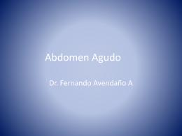 Abdomen Agudo - Noveno Semestre UCIMED 2012 | Just …