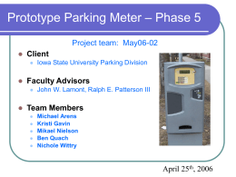 Prototype Parking Meter – Phase 5