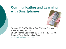 Communicating and Learning with Smartphones