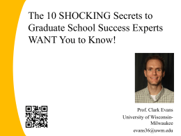 The 10 SHOCKING Secrets to Graduate School Success …