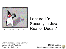 Security in Java: Real or Decaf?