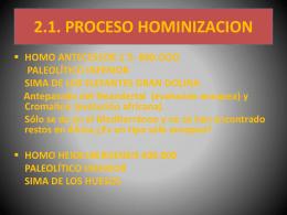1.1. PROCESO HOMINIZACION