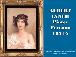 Albert Lynch, pintor peruano - Sitio de la Familia QUIJANO