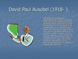 David Paul Ausubel (1918