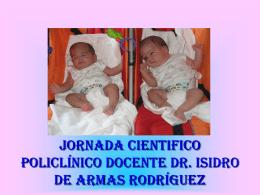 JORNADA CIENTIFICA POLICLINICO DR. ISIDRO DE ARMAS