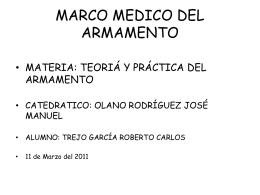 MARCO MEDICO DE LAS ARMAS
