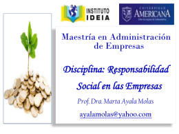 RESPONSABILIDA SOCIAL CORPORATIVA (RSC)