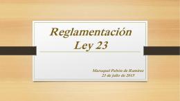 Reglamento de la Ley 23 Anti Blanqueo de Capitales y …