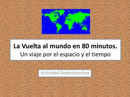 La Vuelta al mundo en 80 minutos. Un viaje por el espacio