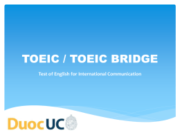 TOEIC - English classes with professor Aaron