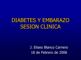 DIABETES Y EMBARAZO SESION CLINICA - FFIS