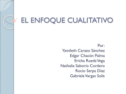 EL ENFOQUE CUALITATIVO