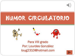 HUMOR CIRCULATORIO