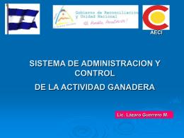 SISTEMA DE ADMINISTRACION Y CONTROL