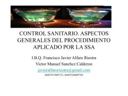 CONTROL SANITARIO. ASPECTOS GENERALES DEL …
