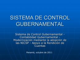 SISTEMA DE CONTROL GUBERNAMENTAL