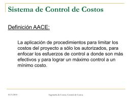 Sistema de Control de Costos