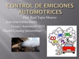 CONTROL DE EMICIONES AUTOMOTRICES